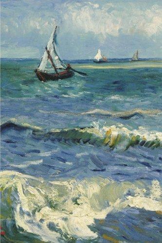 Seascape near Les Saintes Maries de la Mer. Blank Journal: Vincent van Gogh notebook / composition book , 140 pages, 6 x 9 inch (15.24 x 22.86 cm) Laminated