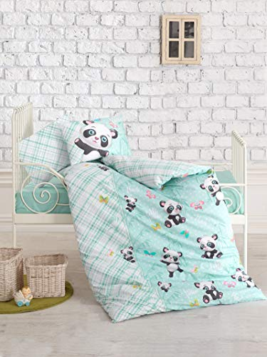 100% Cotton Panda Nursery Baby Bedding, Toddlers Crib Bedding for Baby Girls Boys, Panda Themed Baby Duvet Cover Set,