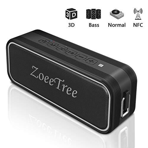 ZoeeTree S11 Bluetooth 5.0, Altavoces Bluetooth con estéreo 3D y Bajos Profundos de 24 W, Tiempo de reproducción de 30 Horas, Altavoz Impermeable IPX7