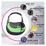 ZHOVAEAL Pet Carrier Dog Cat Hand Free Sling Carrier Outdoor Travel Sling Shoulder Bag for Dogs Cats Walking Subway Daily Use (Fits Small Animals Less Than 9lb Pink) 12