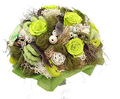 Blumenstrauß Dekostrauß Raumdeko H ca.100cm Trockenstrauß Stehstrauß Braun