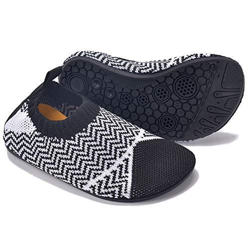 MARITONY Kinder Hausschuhe Mädchen Jungen Anti-Rutsch Leichte Sohle Kleinkinder Schuhe Baby Slipper Unisex,Dunkelgrau,26EU