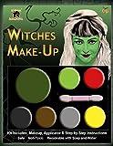 Halloween Siniestro Varios Colores Paleta Kit De Maquillaje Pintura Facial Accesorio De Disfraz - Bruja