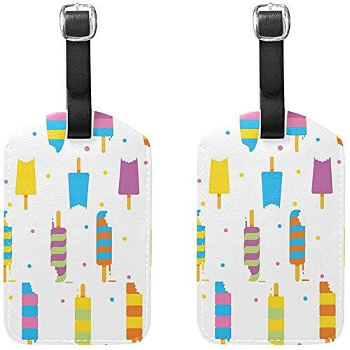 Muster Bissanzeiger EIS Gepäckanhänger Tasche Reiseetiketten für Gepäck Koffer 2 STÜCKE