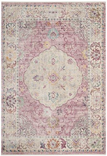 Safavieh Modische Teppich, ILL708, Gewebter Viskose, Rose / Creme, 120 x 180 cm