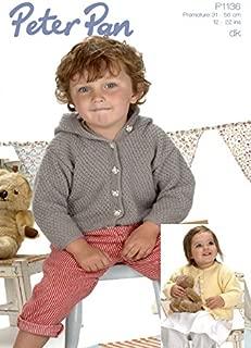 Peter Pan Baby Jackets Knitting Pattern 1136 DK
