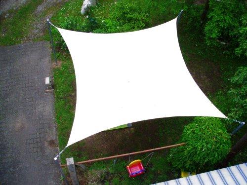 Coolaroo Sonnensegel Viereck 3,6x3,6 m Farbe weiß NEU
