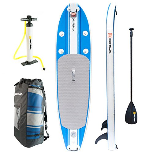 Driftsun Paddleboard 10 Ft SUP, Fins, Paddle, Pump and Carry Backpack