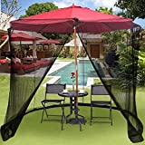 DSHUJC Cubierta de Mosquitos para jardín al Aire Libre, Juego de Mesa Screen House - Red Premium Grande, Adecuada para cenadores para sombrilla o glorieta