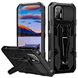 for Moto G Stylus 2021 Case Heavy Duty Military-Grade Defender Anti-Scratches Non-Slip Rugged Phone Case with Magnetic Kickstand [2 Pcs Tempered Glass Screen Protector] for Moto G Stylus 2021 -Black