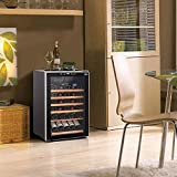 30 Bottle Wine Cooler/Chiller With Touch Panel Digital Temperature Display Freestanding Bottle-Beer Container The Best Wine Cellar Household Wine Fridge