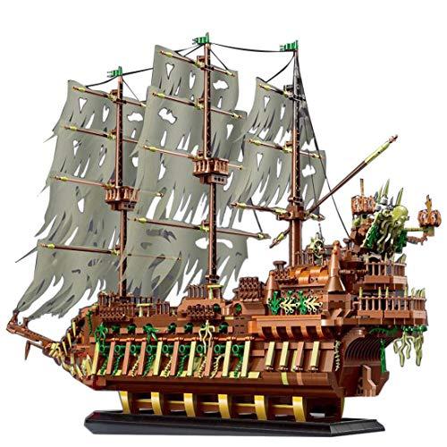 Foxcm Modelo modular de bloques de construcción para barcos piratas holandeses (3653 piezas) compatible con piedras Lego.