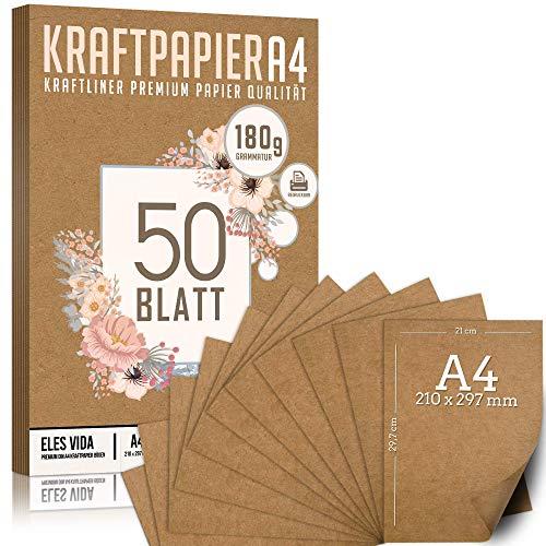 Premium Papel de Estraza DIN A4 de 180 g – 21 x...