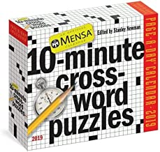 2019 MENSA 10-Minute Crossword Puzzles Page-A-day BOX/Daily Desk CALENDAR