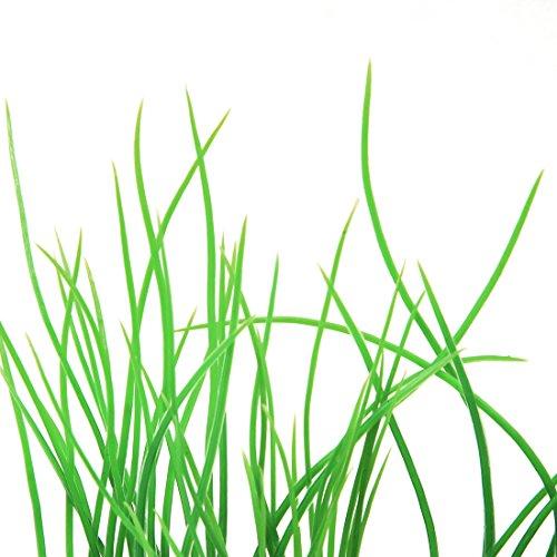 sourcingmap® Künstliche Wasser Aquarium Gras Lang Blatt Pflanze Landschaft Decor – Grün/Gelb - 2