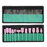 Brocas portátiles para uñas Cabezal de pulido de uñas para esmalte de uñas de gel para cuidado de uñas para uso profesional(12+30 set)