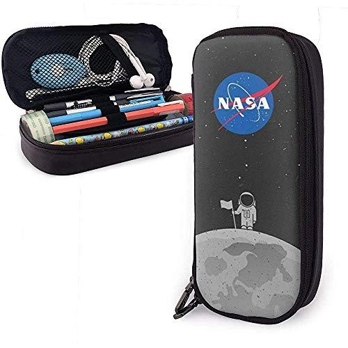 Mond Astronaut NASA Student Travel Handtasche Kosmetiktasche Bleistift Leder Aufbewahrungstasche