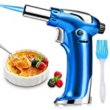 DYD Butane Torch, Culinary Torch Refillable Kitchen Cooking Torch Lighter with Safety Lock and Adjustable Flame for Baking Brulee Creme Cooking BBQ Crafts(Butane Gas Not Included)