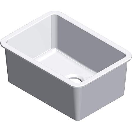 Barclay Ks30wh Pierina Fireclay Single Bowl Undermount Kitchen Sink White Amazon Com