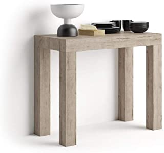 Mobili Fiver, Table Console Extensible First, Chêne, 90 x 45 x 76 cm, Made in Italy