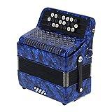 Qinyayoa Acordeón para Principiantes, Instrumento de lengüeta de acordeón acordeón acordeón Profesional para niños con Bolsa de Almacenamiento para Banquete de Rendimiento, Fiesta(Azul Marino)