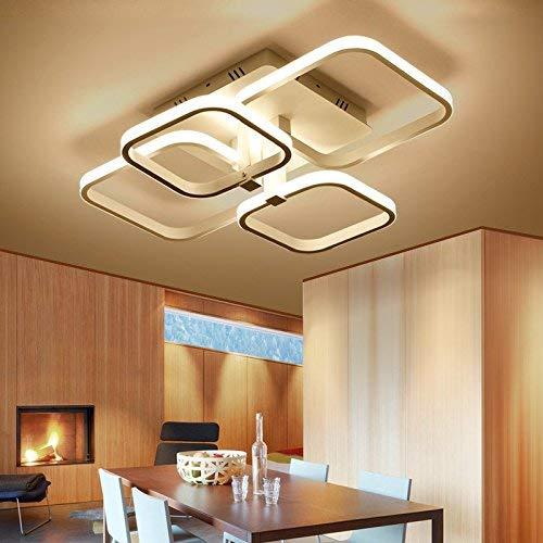 LightInTheBox Lámpara de techo LED con interruptor de control remoto, luz regulable de color cambiable para recámara, comedor, baño y armario