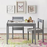 Baby Relax DA7501G Hunter 3 Piece Kiddy Table and Chair Set, Gray
