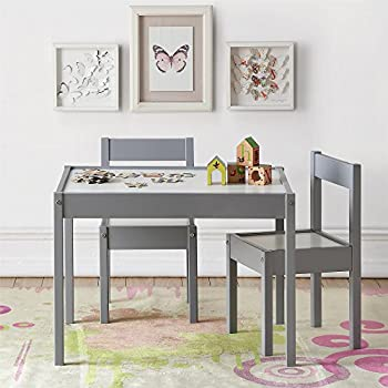 Baby Relax DA7501G Hunter 3 Piece Kiddy Table and Chair Set Gray