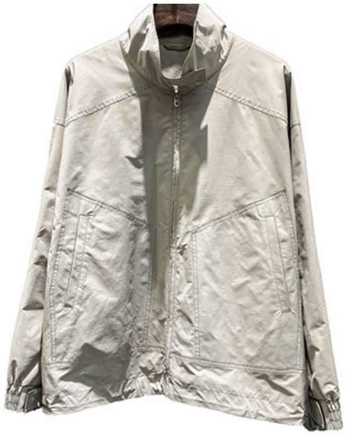 DJASM fzwt Men's Spring New Jackets Trendy Men's Thin Workwear Simple and Loose Men's All-Match Jacket (Color : A, Size : Medium)
