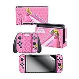 Controller Gear Nintendo Switch Skin & Screen Protector Set, Officially Licensed By Nintendo - Super Mario 'Princess Peach' - Nintendo Switch