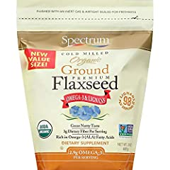 Ground organic flaxseed with great nutty taste 3gram of dietary fiber per serving Rich in Omega 3 (ALA) fatty acids. No Preservatives 98 Milligrams of Lignans per Serving USDA certified organic & Non GMO Project verified