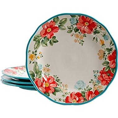 The Pioneer Woman Vintage Floral 10.5  Dinner Plate Set, Set of 4