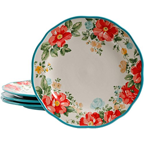 "The Pioneer Woman Vintage Floral 10.5"" Dinner Plate Set, Set of 4"