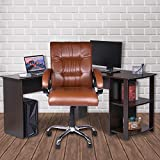 High Living Executive Revolving Office Chair | Desk Chair - Brown