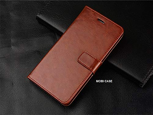 Mobi Case™ Vintage Flip Wallet Case Cover with Card Holder/Magentic Closure/Kickstand (Brown) for Samsung Galaxy Grand Prime