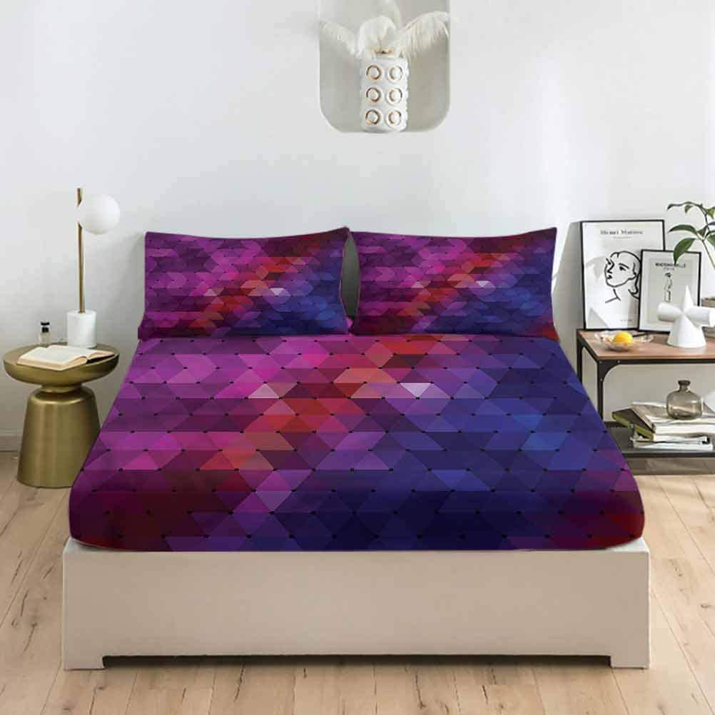 LCGGDB Modern Full Size Seattle Mall Bed Fitted Cyc Rainbow Sheet Set Detroit Mall Colored