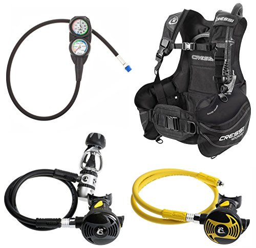 Cressi Start Scuba Diving BCD, Regulator, Console, Octopus, Dive Gear Package.