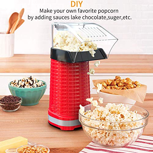 Product Image 5: Fast Hot Air Popcorn Popper With Top Cover,Electric Popcorn Maker Machine,Healthy & Delicious Snack For Family Gathering,Easy To Clean,ETL Certified,Safe