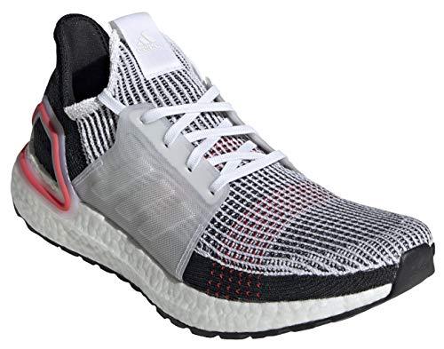 adidas Men's Ultraboost 19, White/White/Red, 7.5
