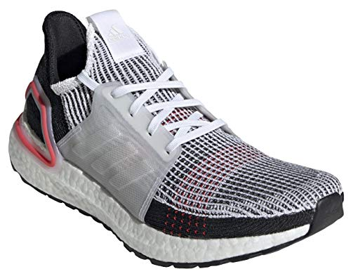 adidas Men's Ultraboost 19, White/White/Red, 8.5