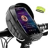 """ROCKBROS Borsa da Manubrio Bici Impermeabile Borsa Telaio per Bicicletta MTB Borsa Portacellulare Porta Telefono sotto 6.5"""" Inches TPU Touchscreen Sensibile 1L Accessori Bike"""