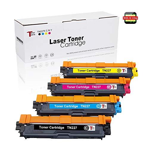 4PK For Brother TN227 TN223 Toner Cartridge MFC-L3770CDW HL-L3270CDW L3290CDW