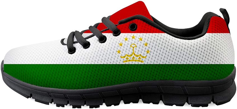 Owaheson Lace-up Sneaker Training shoes Mens Womens Tajikistan Flag