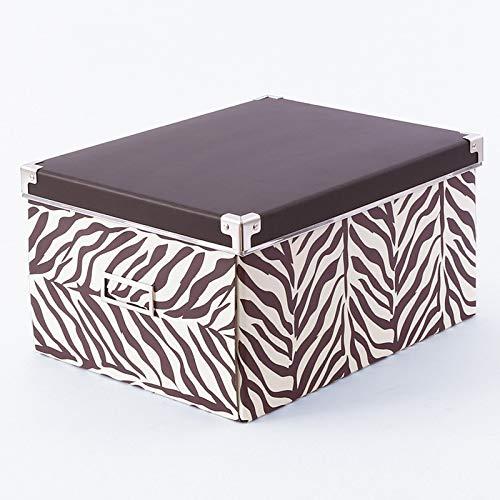 LHY SAVE Cajas De Cartón con Tapa Y Metal Asa -Fácil De Ensamblar, Cajas almacenaje para Regalo, Almacenamiento En El Hogar,...