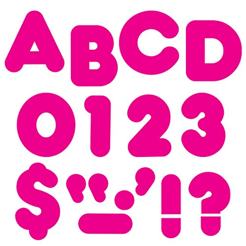 """TREND enterprises, Inc. Deep Pink 4"""" Casual Uppercase Ready Letters"""