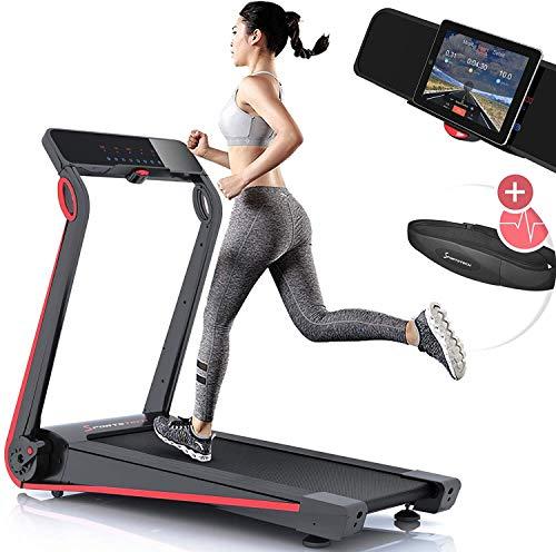 Sportstech Cinta de correr F17 - Marca de Calidad Alemana - Eventos en Vivo & App multijugador - Sistema de Plegado Fácil, Sin Montaje, 12 KM/H, 2.5PS, cinturón de pulso + sistema de lubricación