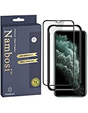 Nambosi Screen Protector for iPhone 11 Pro Max/Xs Max Full Coverage Tempered Glass Edge to Edge Protective Film