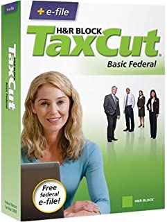 H&R Block TaxCut 2008 Basic Federal + e-file for Windows/Mac