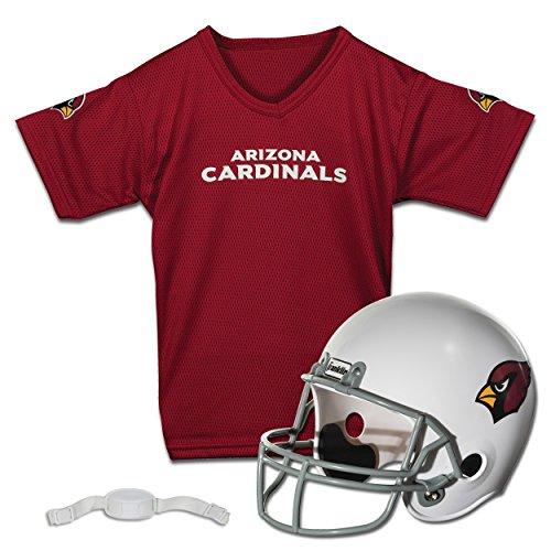 Franklin Sports NFL Arizona Cardinals Kids Football Helmet and Jersey Set - Youth Football Uniform Costume - Helmet, Jersey, Chinstrap - Youth M