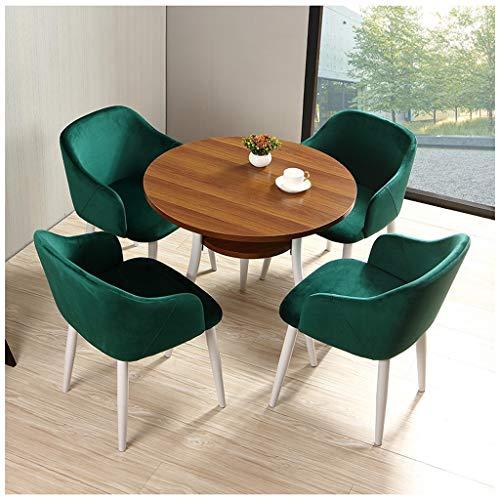 Mesa de hotel y silla combinada Gaohh Mesas de café y sillas de venta de leche tienda de ropa de franela 1 mesa y 4 sillas 80 cm de diámetro mesa redonda pequeña mesa de negociación